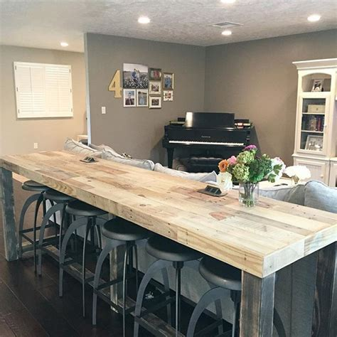 Building A Kitchen Island With Seating best 25 bar tops ideas on pinterest rustic bars