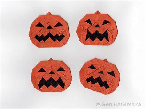 origami pumpkins this week in origami 2015 edition