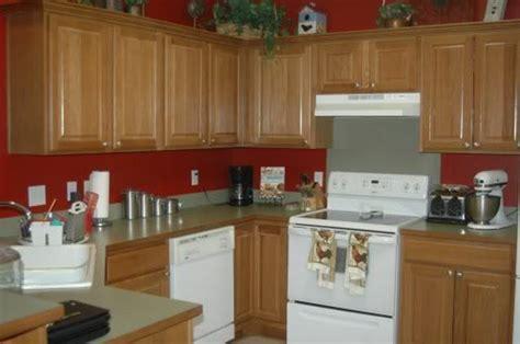 paint colors for kitchens with oak cabinets painted kitchen cabinets two colors design ideas image mag