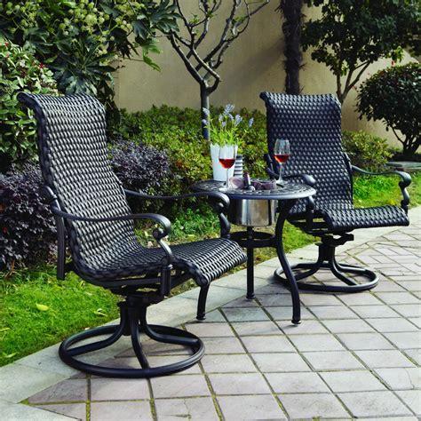 wicker rocker patio furniture patio furniture wicker aluminum rocker swivel chair set 2