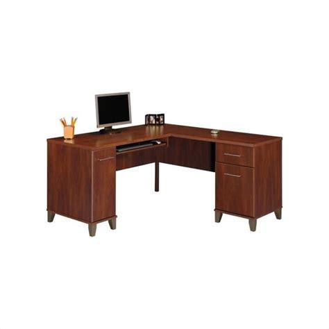 office l shaped desk bush furniture somerset l shaped wood home office set