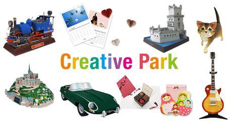 paper crafts canon paper craft canon creative park