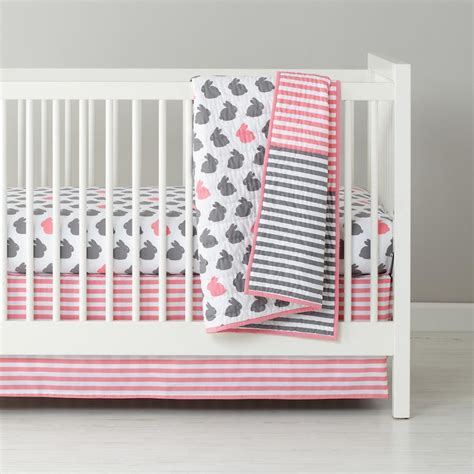 baby crib sheet set i finally found our crib bedding pink and gray bunny