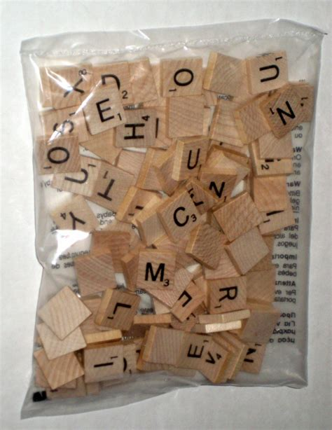 Sold New Factory Sealed 100 Wood Scrabble