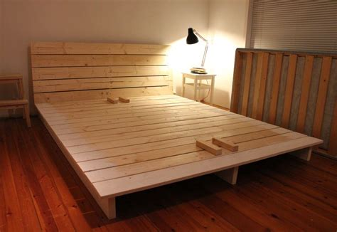 do it yourself bed frame white platform bed diy projects
