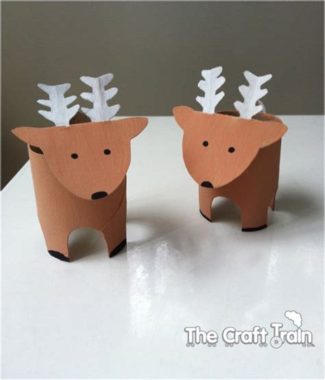 reindeer craft 20 festive diy crafts from toilet paper rolls