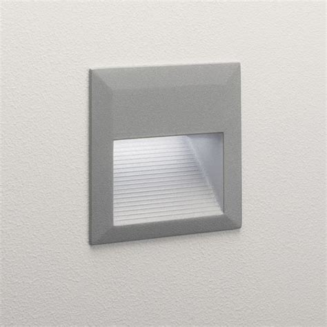 recessed garden wall lights tecla led square exterior recessed wall light in painted