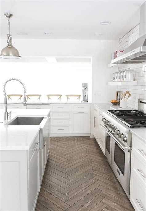 ceramic tile kitchen floor best 25 herringbone tile floors ideas on tile
