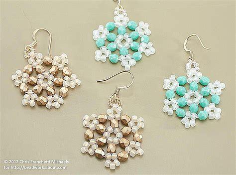 beaded snowflake patterns beaded snowflake using hexagon angle weave