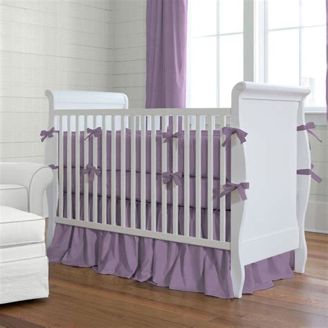 purple nursery bedding sets solid aubergine purple crib bedding carousel designs