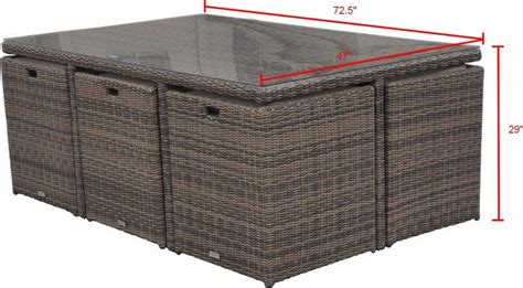 11 patio dining set radeway 11 rattan cube outdoor patio dining set