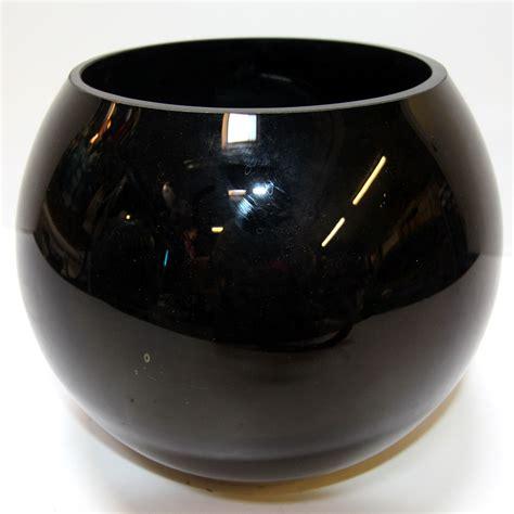 black glass for vases globe bowl black glass vase style 2 ten and a half