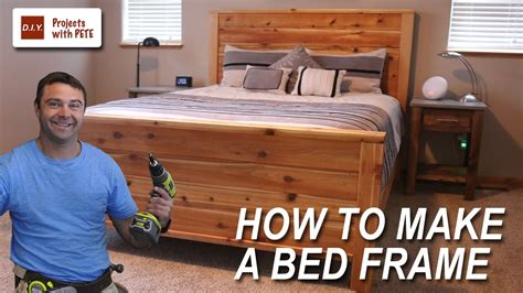 how to make a bed frame with free size bed frame