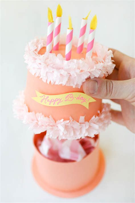 paper birthday cake craft paper birthday cake box oh happy day click on link for