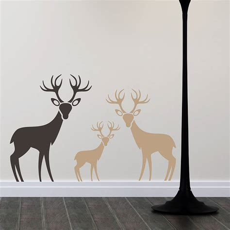 deer stickers for wall woodland deer family wall stickers by snuggledust studios