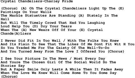 chandelier song lyrics country chandeliers pride lyrics and