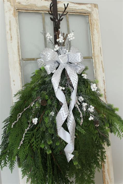 how to make a swag for front door diy swag wreath clean and scentsible