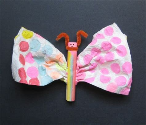 paper towel crafts for preschoolers paper towel butterfly family crafts