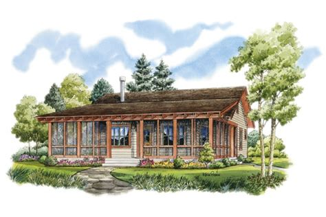 Log Home Floor Plans With Garage rustic sportsman cabin hwbdo76596 low country from