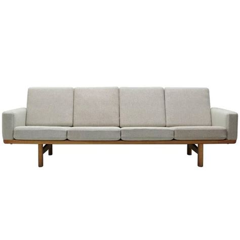 hans wegner sofa hans j wegner sofa model ge 236 4 at 1stdibs