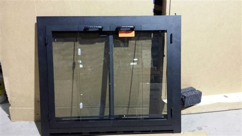 glass fireplace screens with doors fireplace screens with doors