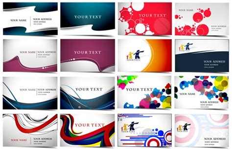 card layouts business cards vector layouts