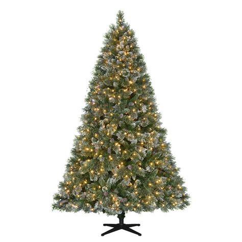 3 foot black tree martha stewart living 7 5 ft pre lit led sparkling pine