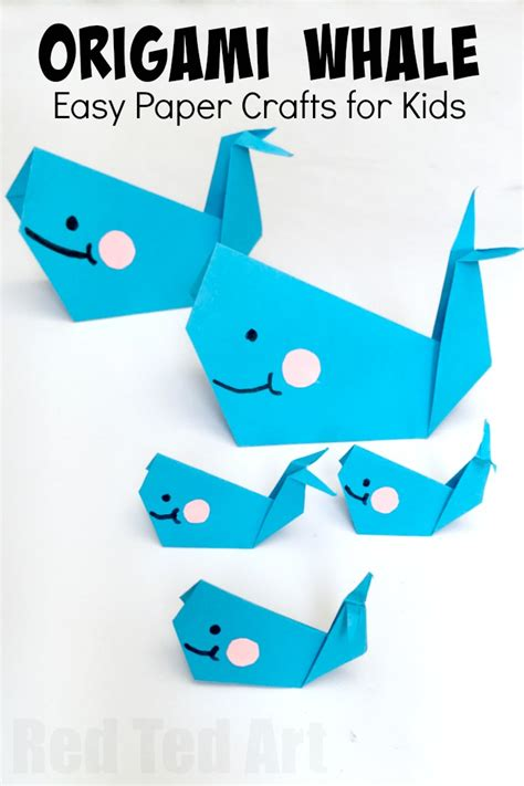 easy paper crafts for children easy origam whale for and easy whale