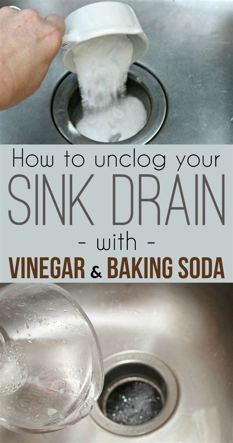 unclog kitchen sink vinegar baking soda how to unclog a sink drain with baking soda and vinegar