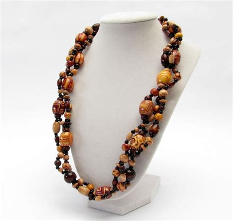 beaded necklaces ideas wooden bead necklace jewelry ideas