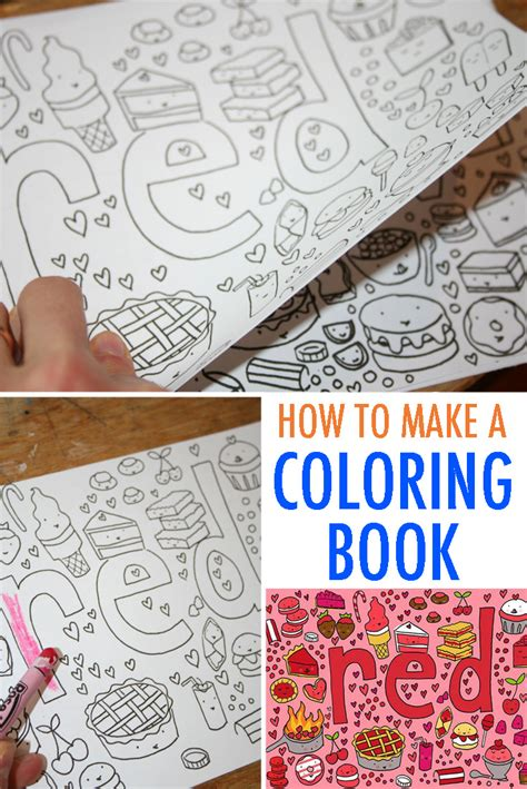 how to make picture book make your own coloring book free tutorial
