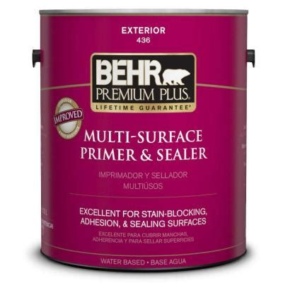 home depot paint no primer behr premium plus 1 gal multi surface interior exterior