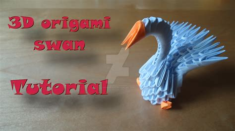 make 3d origami how to make a 3d origami swan model 1 by ideando on
