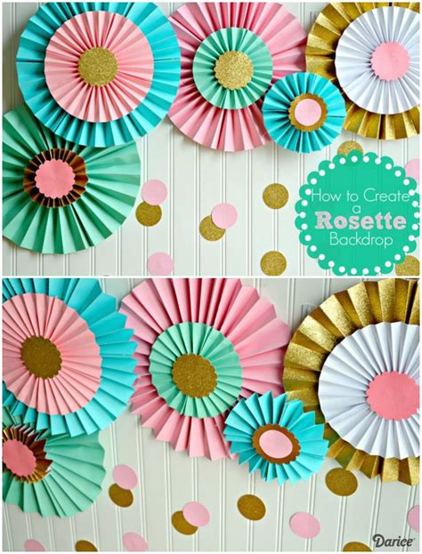 decorations for to make with paper 25 best ideas about paper rosettes on diy