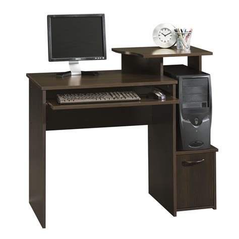 shop sauder beginnings cinnamon cherry computer desk at