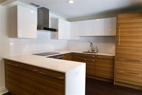 White Glass Tile Backsplash Kitchen zebrawood kitchen remodel in rochester ny concept ii