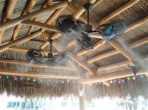 commercial outdoor ceiling fans the misting store tri mist misting cooling celling fans