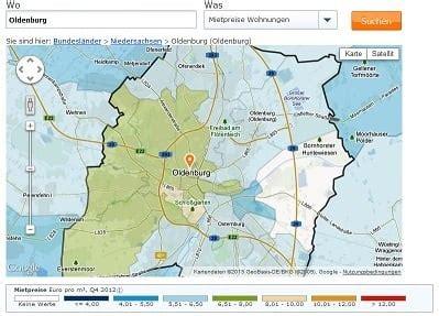 wohnung mieten oldenburg bümmerstede mietspiegel oldenburg 2016 was mieten in oldenburg kostet