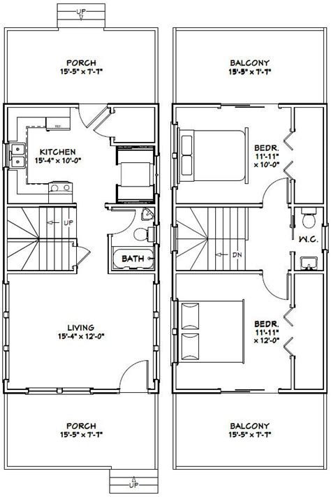 tiny floor plans 16x30 tiny house 16x30h6g 873 sq ft excellent