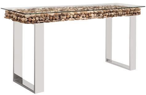 Bedroom Benches With Storage console tables osimo driftwood top with glass top mh2g com