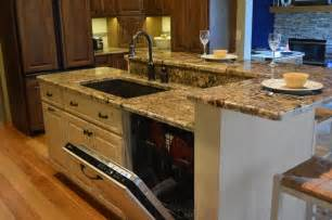 kitchen islands with sink and seating kitchen sink dishwasher 3 kitchen islands with seating