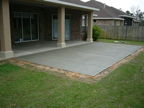 backyard concrete patio designs triyae cement backyard design various design