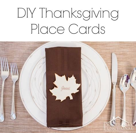 how to make thanksgiving place cards simple thanksgiving place cards printable