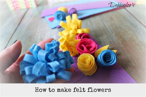how to make from flowers learn how to make felt flowers debbiedoos