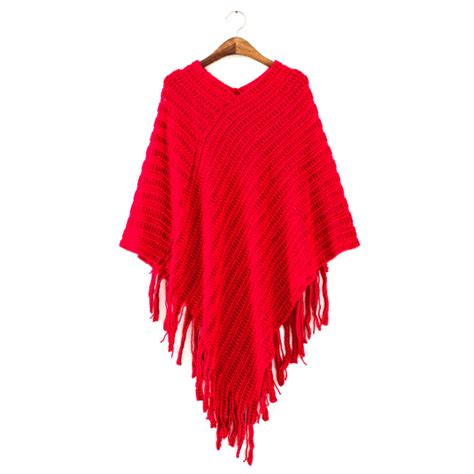 knitted cape poncho v neck top s poncho batwing cape tassel knitted