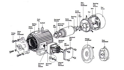 Electric Motor Breakdown by Baldor Motor Parts Diagram Images