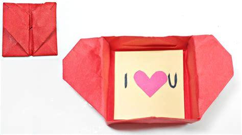 origami secret box origami box envelope secret message