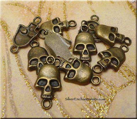 bulk jewelry supplies brass skull findings skull jewelry supply bulk 10
