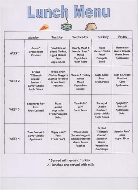 8 best images about kids meal plans on pinterest day