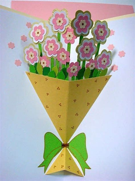how to make card flowers 25 best ideas about flower pop up card on